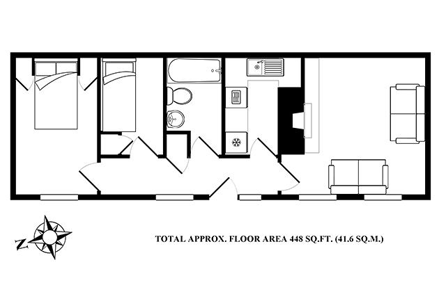 Plover Cottage's floor plans