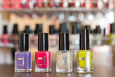 Bottles of The Edge nail colours