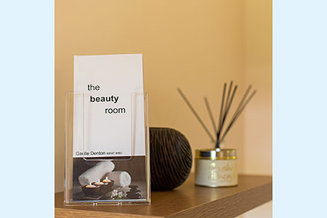 Leaflet for The Beauty Room