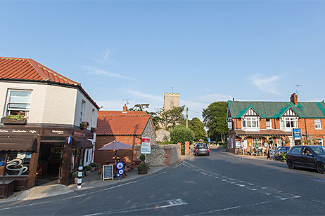 Weybourne's shop, church, and pub
